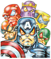 CAPTAIN AMERICA AND VILLAINS
