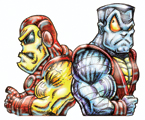 IRON MAN AND COLOSSUS